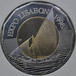 Croatia 25 KUNA 1998 KM-63, Bi-Metallic, 12-sided, Lisbon Expo