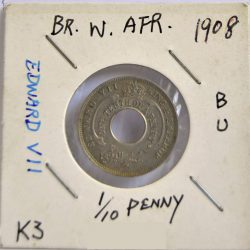 One-tenth of a penny British West Africa 1908 Edwardvs VIII