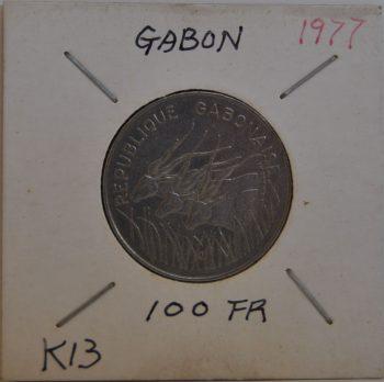 100 Francs 1977 Africa Gabon