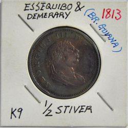 ½ Stiver Essequibo & Demerary