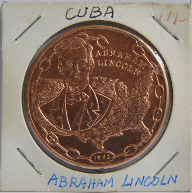 Cuba PESO 1993 President Abraham Lincoln