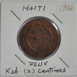2 CENTIMES Haiti 1846