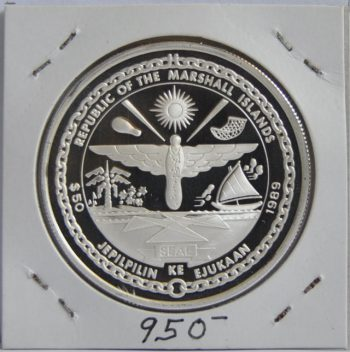 50 Dollars Marshall islands 1989 Docking in space 1966