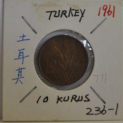 10 Kurus Turkey 1961