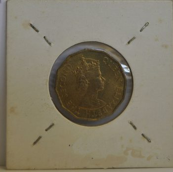 THREE PENCE Fiji 1955