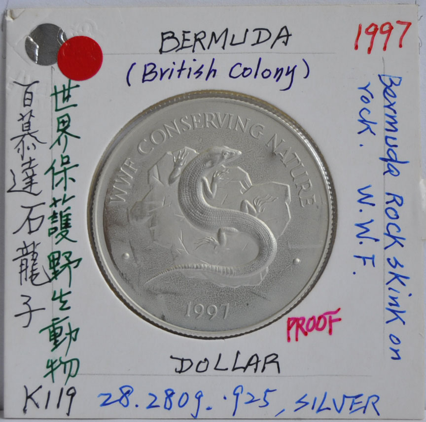 DOLLAR Bermuda 1997 Rock Skink
