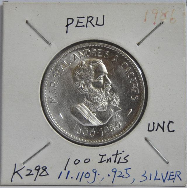 100 INTIS Peru 1986