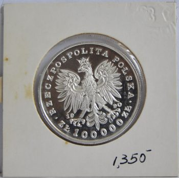 100000 ZàOTYCH Poland 1990 Silver Proof