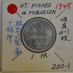 FRANC ST. Pierre & Miquelon 1948
