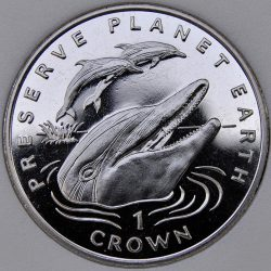 1994 Gibraltar CROWN preserve planet earth Striped Dolphins