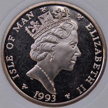1993 AA Isle Of Man 5 POUNDS KM# 336 Virenium F1 World Champion Nigel Mansell 1992 coin