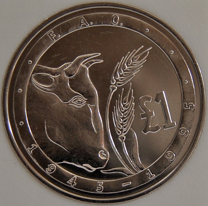 1995 Cyprus POUND KM# 70 50th Anniversary of the F.A.O.