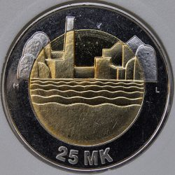 1997 Finland 25 MARKKAA KM# 85 MS63 Bi-Metallic 80th Anniversary of Independence