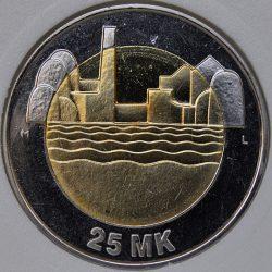 1997 Finland 25 MARKKAA KM# 85 MS63 Bi-Metallic 80th Anniversary of Independence