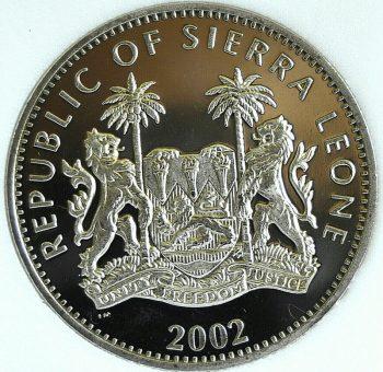 2002 Sierra Leone Dollar Year of the Horse