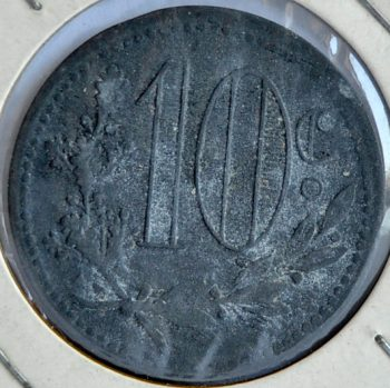 Algeria French Occupation 10 CENTIMES 1917