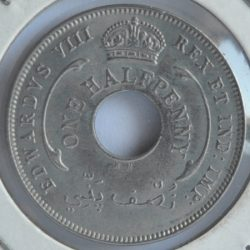 British West Africa half PENNY 1936