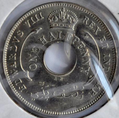 British West Africa half PENNY 1936