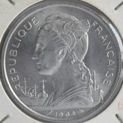 Comoros French Colonial 5 FRANCS 1964