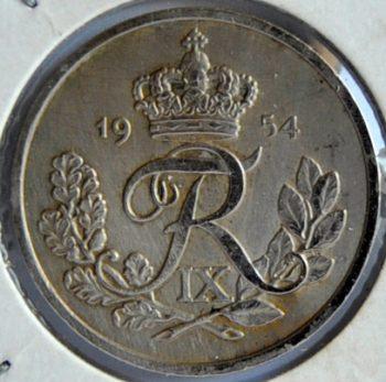 Denmark 25 ØRE 1954