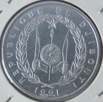 Djibouti 5 FRANCS 1991