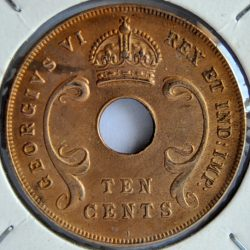 East Africa British Colonies 10 CENTS 1941