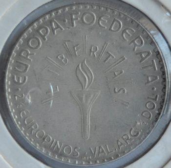 1952 Europa 2 ½ Europinos 1952 silver Eisenhower