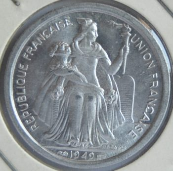 French Oceania 2 FRANCS 1949