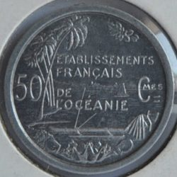 French Oceania 50 CENTIMES 1949