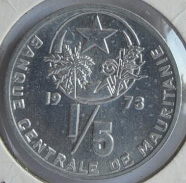 Mauritania 1/5 OUGUIYA 1973