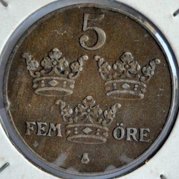 Sweden 5 ÖRE 1936