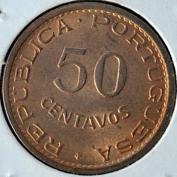 Timor Portuguese Colony 50 CENTAVOS 1970