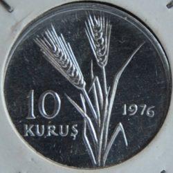 Turkey 10 KURUS 1976