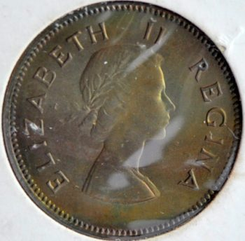Union of South Africa ½ PENNY 1957