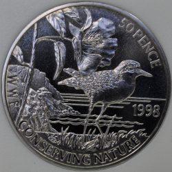1997 Norwegen NORWAY 5 Euro Castor fiber TRONDHEIM Cu-Ni UNC Copper-Nickel