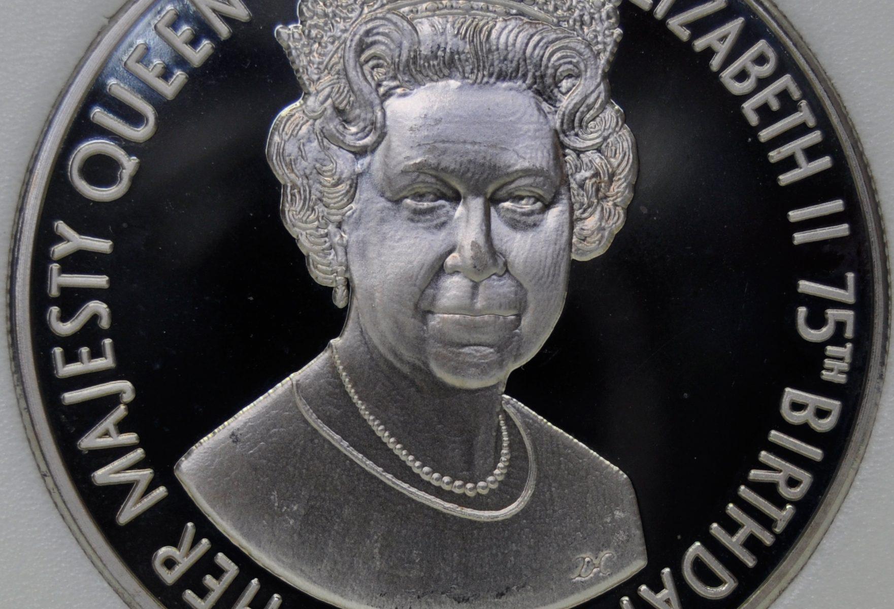 2001 Tristan Da Cunha 50 PENCE 2001 KM#12 Proof Queen Elizabeth's 75th coin
