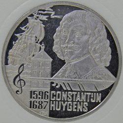 1996 Netherlands 5 EURO UNC 400th Anniversary Constantijn Huygens coin