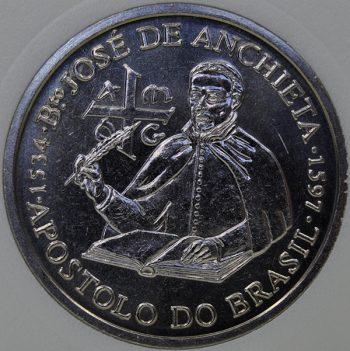 1997 Portugal 200 ESCUDOS KM# 699, MS65 Copper-Nickel Brasil