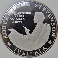 Samoa TALA 1969 KM# 8 Proof Copper-Nickel Robert Louis Stevenson coin