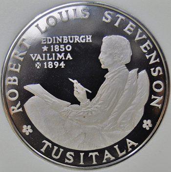 Samoa TALA 1969 KM# 8 Proof Copper-Nickel Robert Louis Stevenson coin