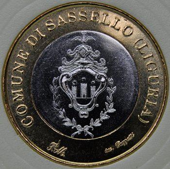1998 Italy Medal Token Commune Di Sassello Euro Bi-Metallic