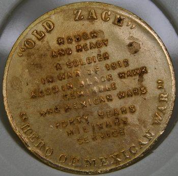 1849 - 1850 Zachary Taylor 12th President USA bronze Commemorative Token