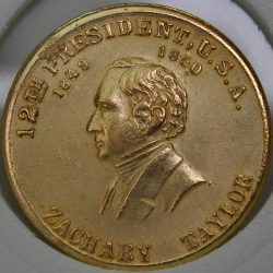 1849 - 1850 Zachary Taylor 12th President USA bronze Commemorative Token