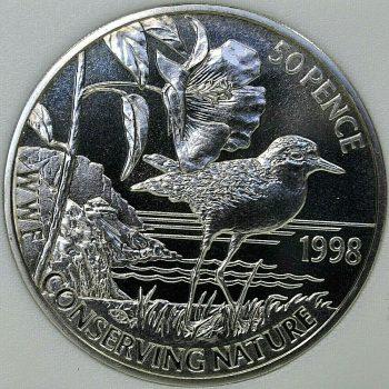 1998 Saint Helena 50 PENCE