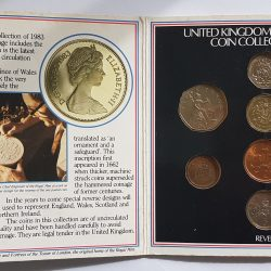 1983 UK brilliant uncirculated coin collection 8 coin BR mint