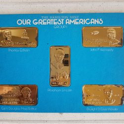 GROUP I : 5x1 TROY OZ .999 SILVER BARS by HAMILTON MINT - OUR GREATEST AMERICAN